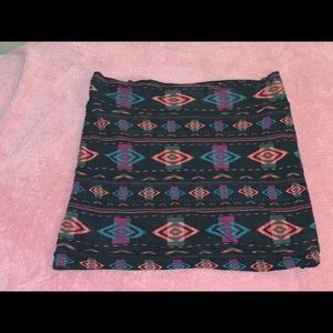 Forever21 Tribal Mini Skirt